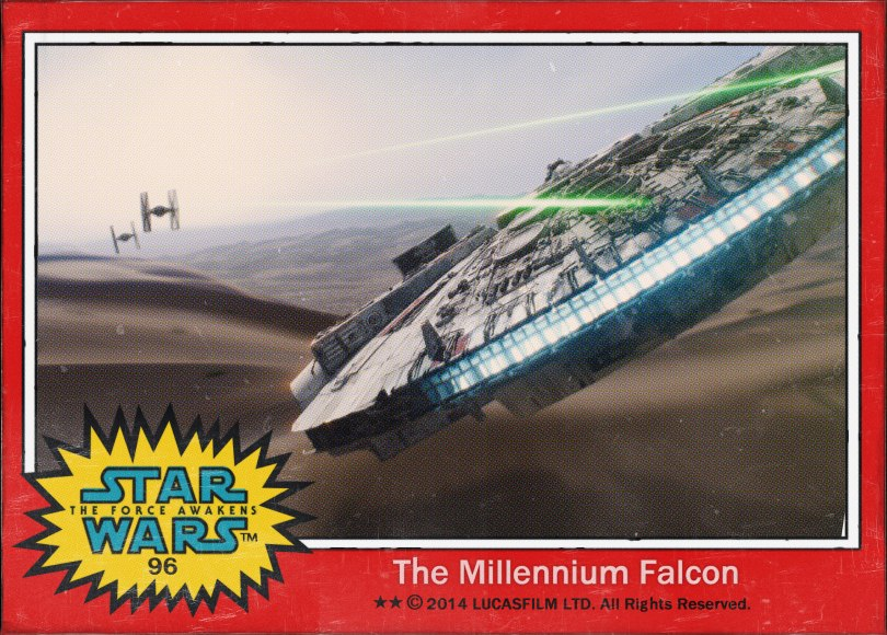 The Millennium Falcon Star Wars The Force Awakens Digital Trading Card No 96