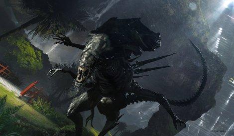 Alien 5 Neill Blomkamp Alien Queen Hunting Artwork by Geoffroy Thoorens