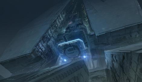 Alien 5 Neill Blomkamp The building 2 Artwork by Geoffroy Thoorens