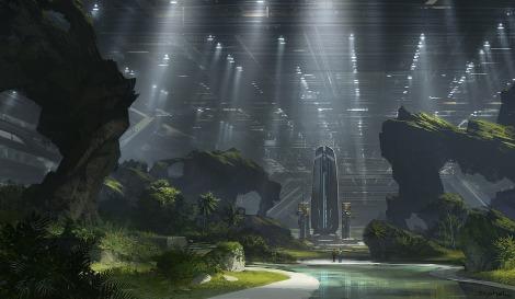 Alien 5 Neill Blomkamp The building Artwork by Geoffroy Thoorens
