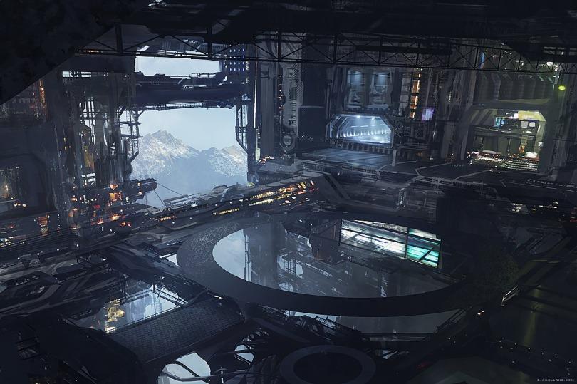 Alien5 Concept art by Geoffroy Thoorens