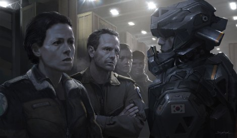 Alien5 Mercenaries Ripley and Corporal Hicks Neill Blomkamp