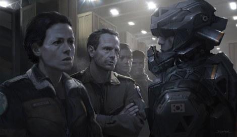 Alien5 Mercenaries Ripley and Corporal Hicks Neill Blomkamp