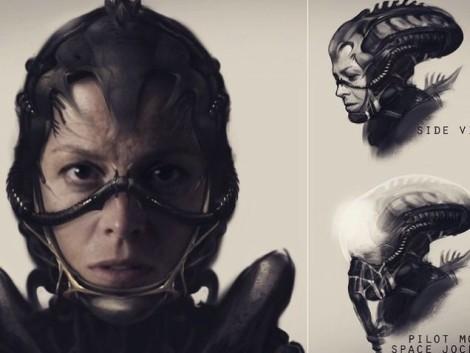 New Alien 5 Film concept by Neill Blomkamp Ripley Alien Face Hugger Helmet