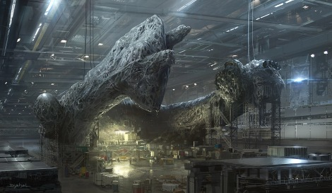 New Alien 5 Film concept by Neill Blomkamp The Factory Artwork by Geoffroy Thoorens