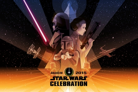 Star Wars Celebration 2015 Official Poster Artwork by Craig Drake