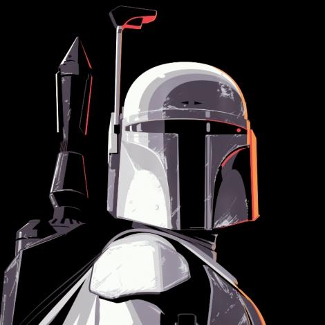 White Proto Fett Star Wars by Craig Drake