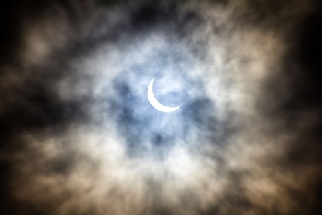The Solar Eclipse over the Leeds by © Carl Milner 2015