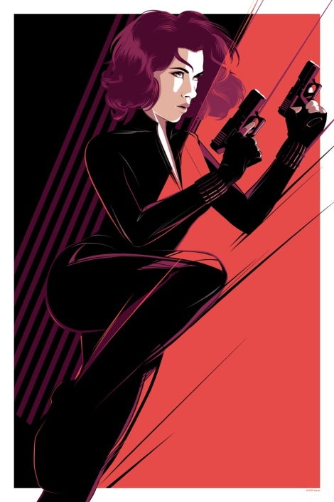 Black Widow Mondo Art by Craig Drake Avengers Age of Ultron