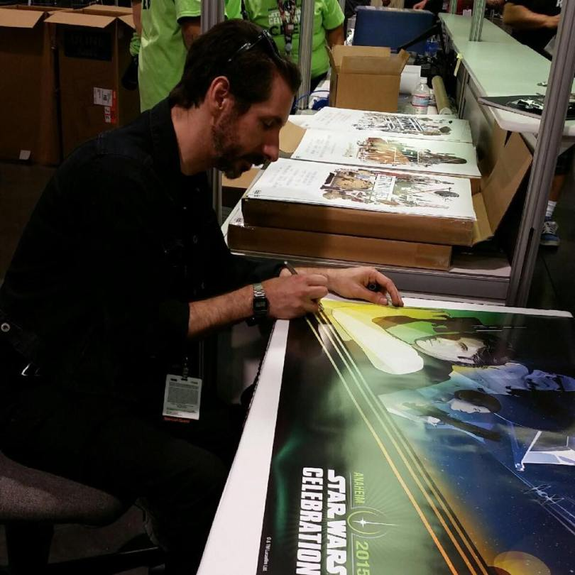 Craig Drake signing prints at Star Wars Celebration 2015