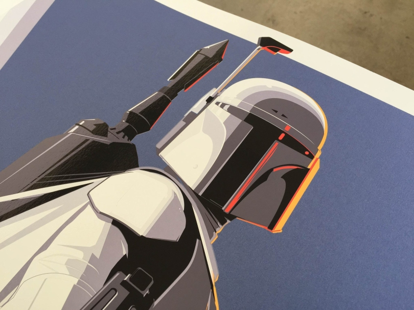 Proto Boba Fett Print by Craig Drake Star Wars