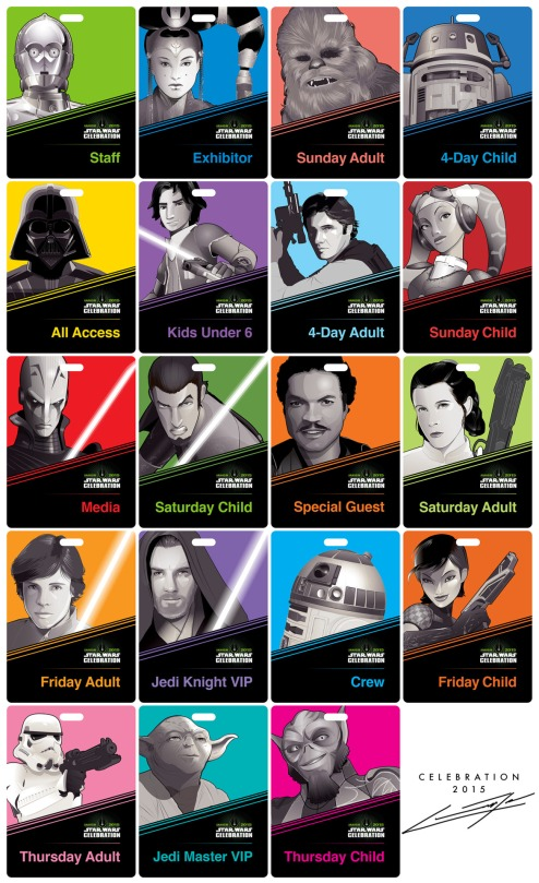 Star Wars Celebration ID Bages by Craig Drake