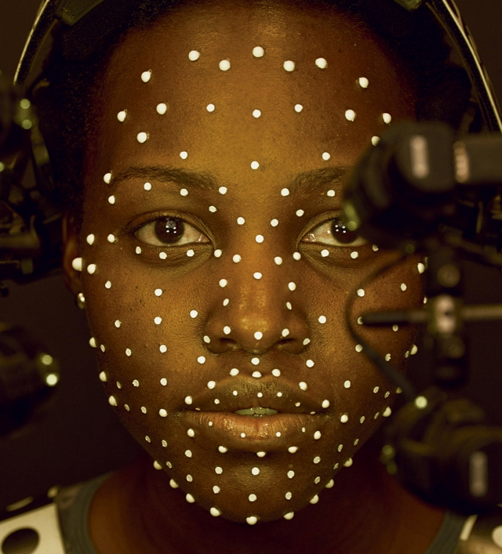 A small galaxy's worth of tracking dots affixed to Lupita Nyong'o's face allowed artists at Industrial Light & Magic to transform her into the C.G.I. character Maz Kanata