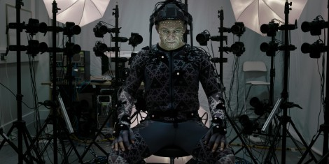 Andy Serkis as Supreme Leader Snoke in Star Wars The Force Awakens