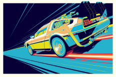BACK TO THE FUTURE ACID DELOREAN PART 1 BY CRAIG DRAKE SOLO SHOW II HERO COMPLEX GALLERY
