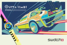 BACK TO THE FUTURE DELOREAN SWATCH BY CRAIG DRAKE SOLO SHOW II HERO COMPLEX GALLERY