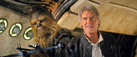 Han Solo and Chewbacca in the Millennium Falcon from Star Wars VII The Force Awakens Trailer