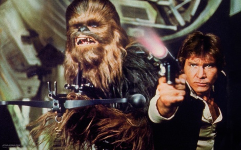Han Solo and Chewbacca Promo shot from Star Wars iv A New Hope 1977
