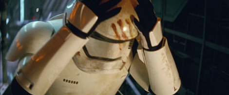 Star Wars The Force Awakens Official Teaser Trailer 2 Stormtrooper Finn with blood MilnersBlog