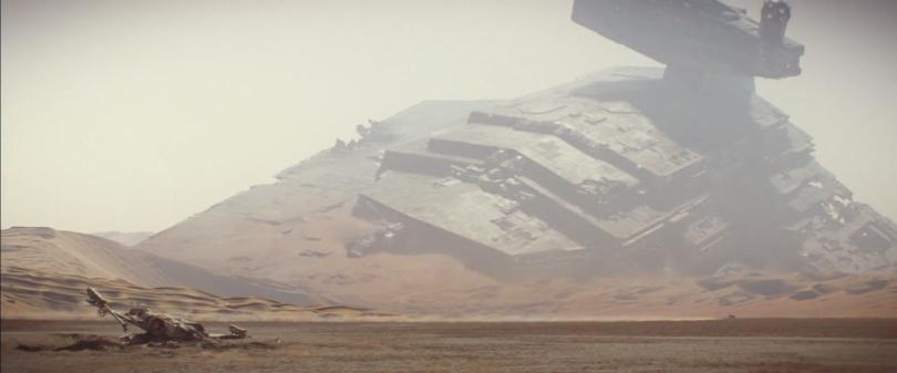Star Wars The Force Awakens Official Teaser Trailer Imperial Star Destroyer X-Wing fighter Battle of Jakku