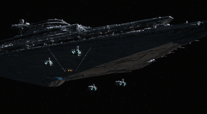The First Order Star Destroyer and new troop transports Star Wars The Force Awakens