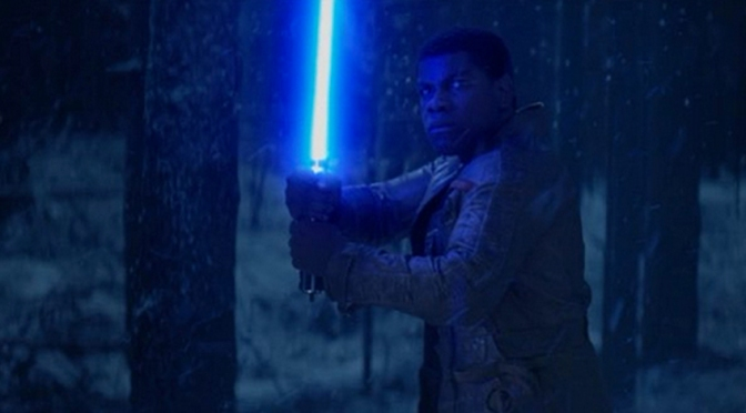 Finn the Jedi from Star Wars The Force Awakens
