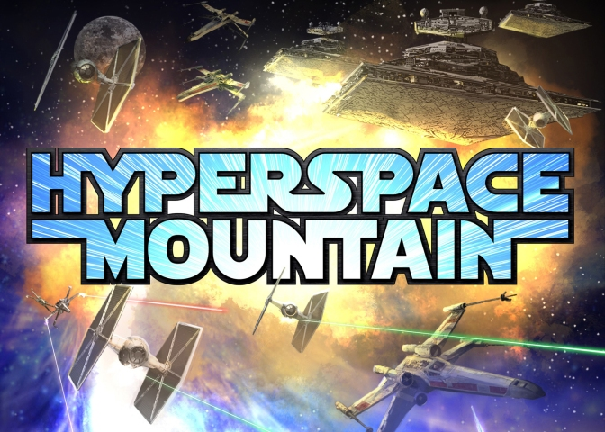 Hyperspace Mountain Star Wars Disneyland