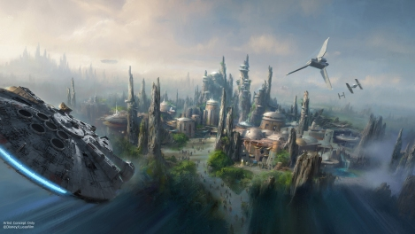 Star Wars Land Theme Park Disney Official Concept Art