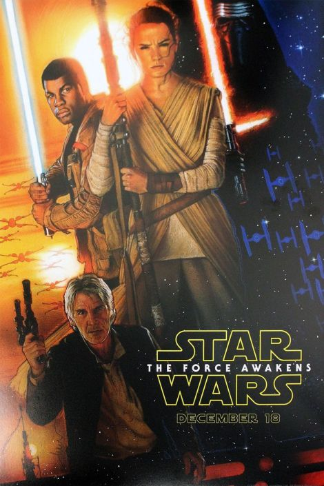 Star Wars - The Force Awakens Teaser Poster by Drew Struzan