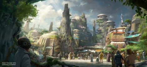 Star Wars themed land Disney Parks Official Concept Art