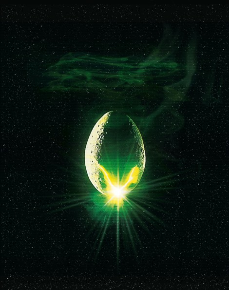 Alien Classic Film Poster Without Word all Text Removed