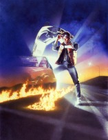 Back to the Future Classic Film Poster Without Word all Text Removed