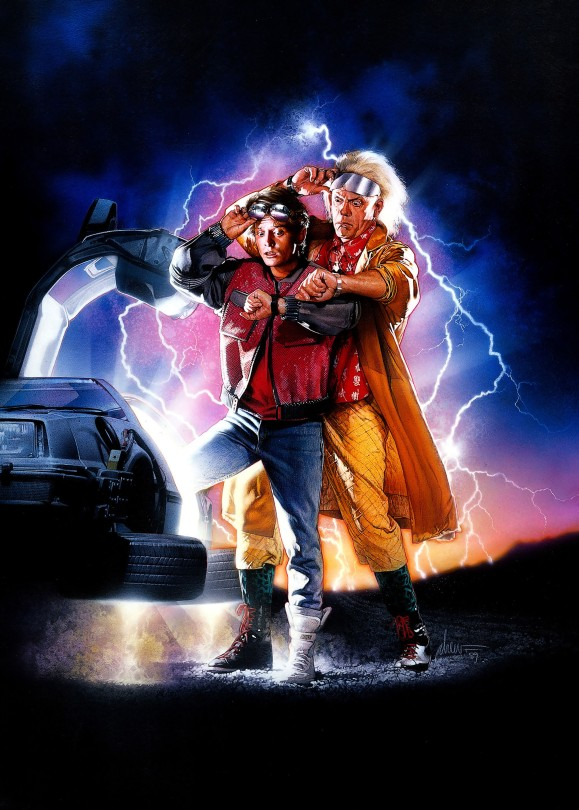 Back to the Future Part II Classic Film Poster Without Word all Text Removed
