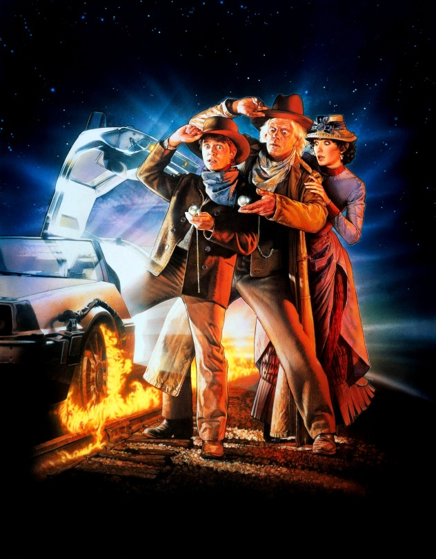 Back to the Future Part III Classic Film Poster Without Word all Text Removed