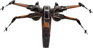 Black Squadron T-70 X-Wing Star-Wars-The-Force-Awakens-Spacecraft-Cut-Out-with-Transparent-Background