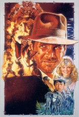 Indiana Jones and the Temple of Doom Classic Film Poster Without Word all Text Removed