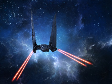 Kylo Rens Command Shuttle in Action StarWars The Force Awakens Spacecraft