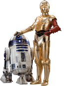 R2D2 and C-3PO Star-Wars-Ep7-The-Force-Awakens-Characters-Cut-Out-with-Transparent-Background