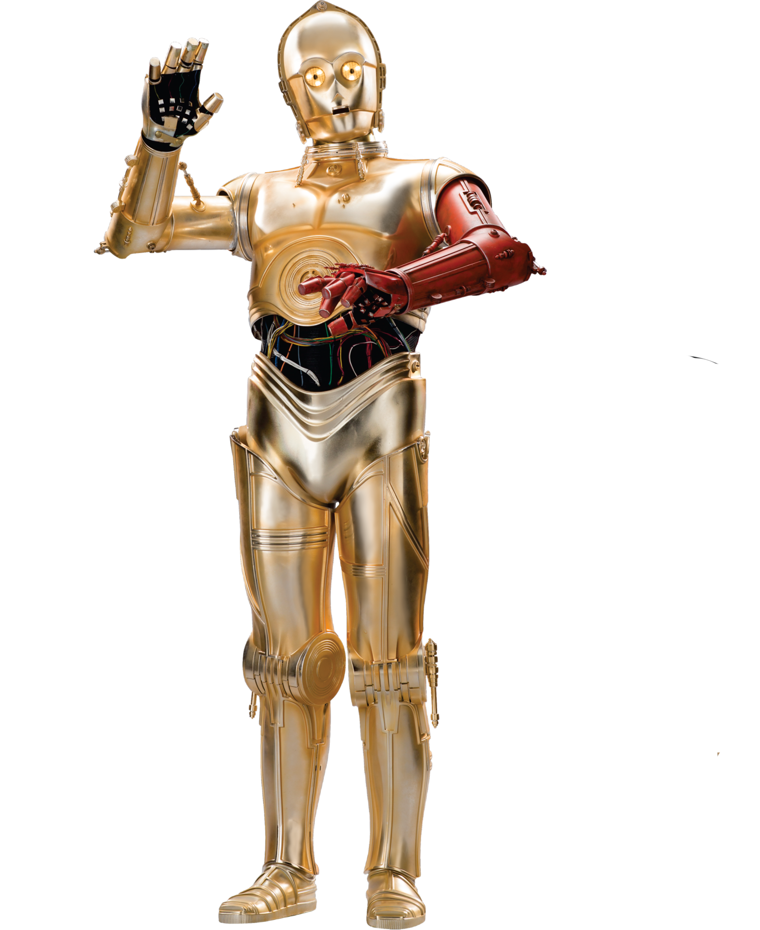 red arm c 3po star wars ep7 the force awakens characters cut out with transparent background_23