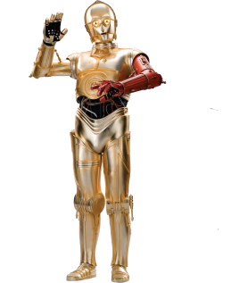 Red Arm C-3PO Star-Wars-Ep7-The-Force-Awakens-Characters-Cut-Out-with-Transparent-Background