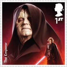 Royal Mail's Star Wars The Force Awakens Stamp Collection - Emperor Palpatine
