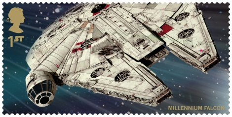 Royal Mail's Star Wars The Force Awakens Stamp Collection - MIllennium Falcon from the Force Awakens