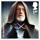 Royal Mail's Star Wars The Force Awakens Stamp Collection - Obi Wan Kenobi