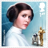 Royal Mail's Star Wars The Force Awakens Stamp Collection - Princess Leia Organa