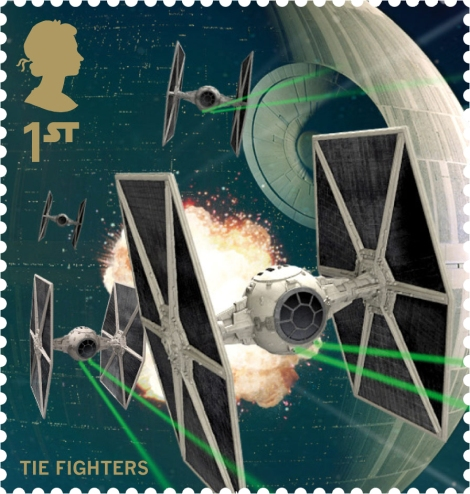 Royal Mail's Star Wars The Force Awakens Stamp Collection - Tie Fighter