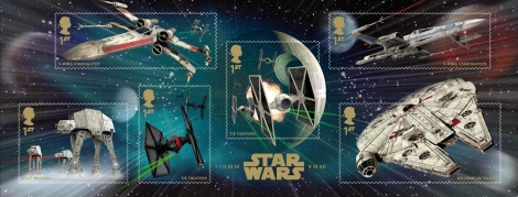 Royal Mail's Star Wars The Force Awakens Stamp Collection - Vehicles and SpaceShips