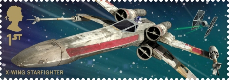 Royal Mail's Star Wars The Force Awakens Stamp Collection - X Wing Fighter