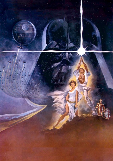 Star Wars - Episode IV A New Hope Film Poster Without Word all Text Removed