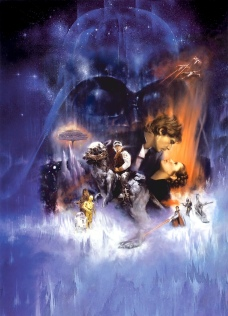 Star Wars - Episode V The Empire Strikes Back Classic Poster Without Word all Text Removed