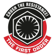 Star Wars The Force Awakens First Order and Resistance Stickers Decals Insignia_80